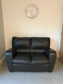 Leather Sofa (Dark brown - 2 Seater) Pet free/Smoke free home