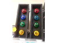 flashing dj disco lights built in controller