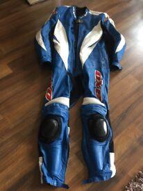 1 Piece Leather Suit AXO SIZE 54 Blue & White, excellent condition