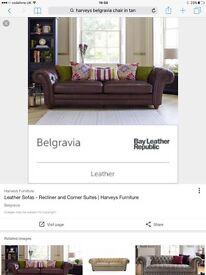 harveys belgravie chair cat d leather still in packaging