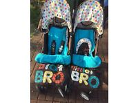 Cosatto Big Bro Lil Bro double buggy