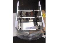 Croydex Anton Double Door Stainless Steel Mirrored Bathroom Cabinet RRP 129 new