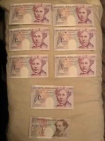 Rare OLD English consecutive bank note