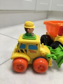 2 Toddler construction site toys. Chunky plastic Safe to use.