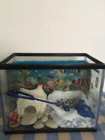 Fish tank , ornaments,