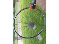 Cinelli 700c wheelset with cassette- touring, commuting, trekking