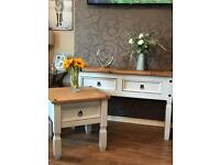 Dove grey Console Table & Side/Lamp Table
