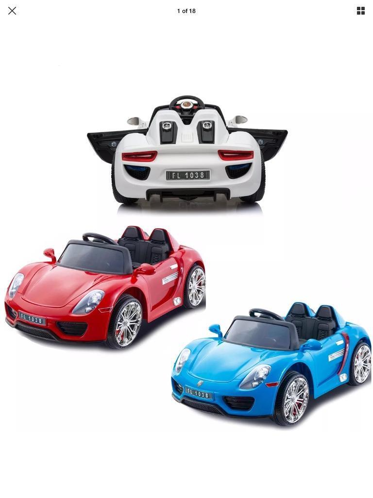 Porsche 911 Style 12v Kids Ride On Car Remote Control In Dudley