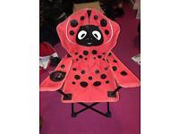 Ladybird fold up chair