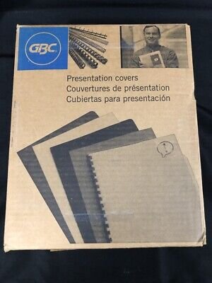 New Open Box Gbc 7mil 8.5 X 11 Clear View Covers 50pk 9742011g Mask Use