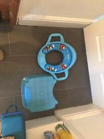 Thomas tank toilet seat and stool