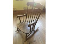 Childs Rocking Chair (vintage Swedish)