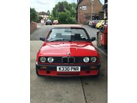 BMW E30 3 series convertible rust free restored