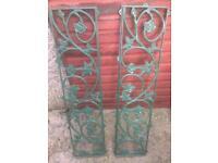 Garden cast iron trellis
