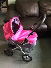 Baby doll pram (pink) - great condition!