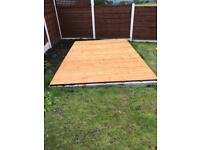 6'x6' Concrete Sleeper Garden Building Base £230.00 ALL SIZES...DELIVERY & INSTALLATION INCLUDED