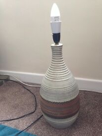 Large Studio Pottery Lamp hand crafted all in VGC full working order