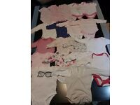 Massive bundle (106 items) of baby girl clothes