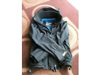 Boys black superdry jacket