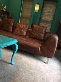 Sofa gorgeous leather 1930 style