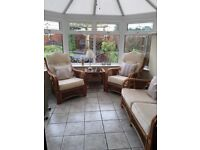 Cane/conservatory furniture in excellent condition