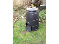 Black Plastic Compost Bin used