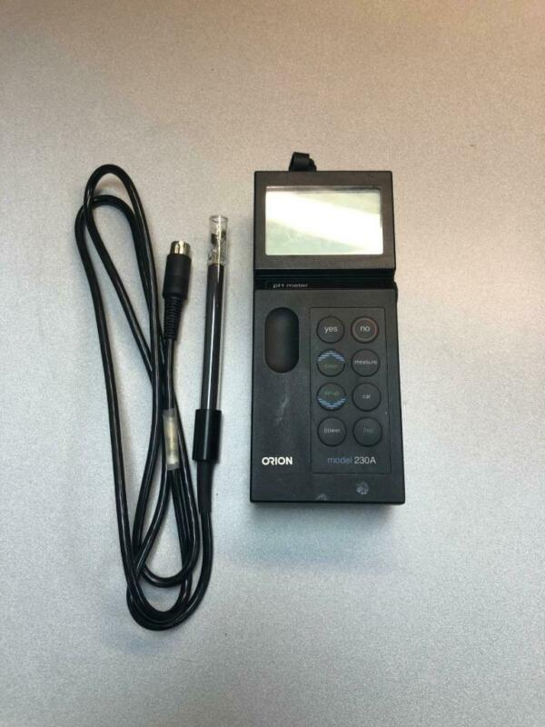 Orion Portable pH Meter with New Battery and Good Probe Model 230A