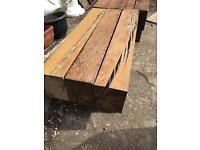 Pair of Railway sleeper coffee table / bench