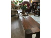 Coffee Table/Dining Table Bench.. 180cm..Dark Solid Wood excellent