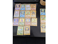 78/102 Pokemon Base set near complete, 14 holos + 3 dupes