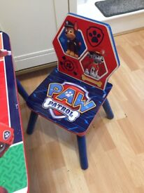 Paw patrol children's table and chairs