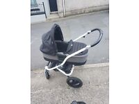 Brittax Pram, stroller, push chair, travel system with isofix base