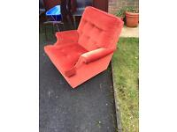 Bargain! Retro red Parker knoll chair for sale. Great condition