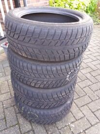 4 x Winter Tyres 205/50 R 16A . Used but very little wear. £100 the Set.