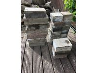 Granite effect garden blocks