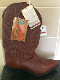 Authentic Leather Western Boots Size 8US / 6UK / 39EU. Still with labels REDUCED FROM £80