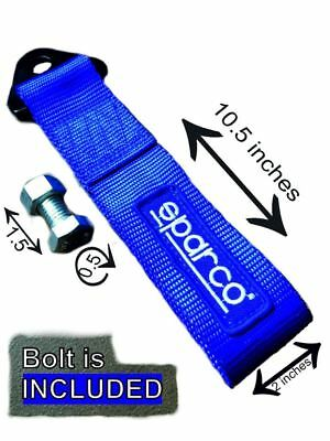 Sparco tow strap BLUE JDM towing hook for tuning and racing cars segunda mano  Embacar hacia Spain