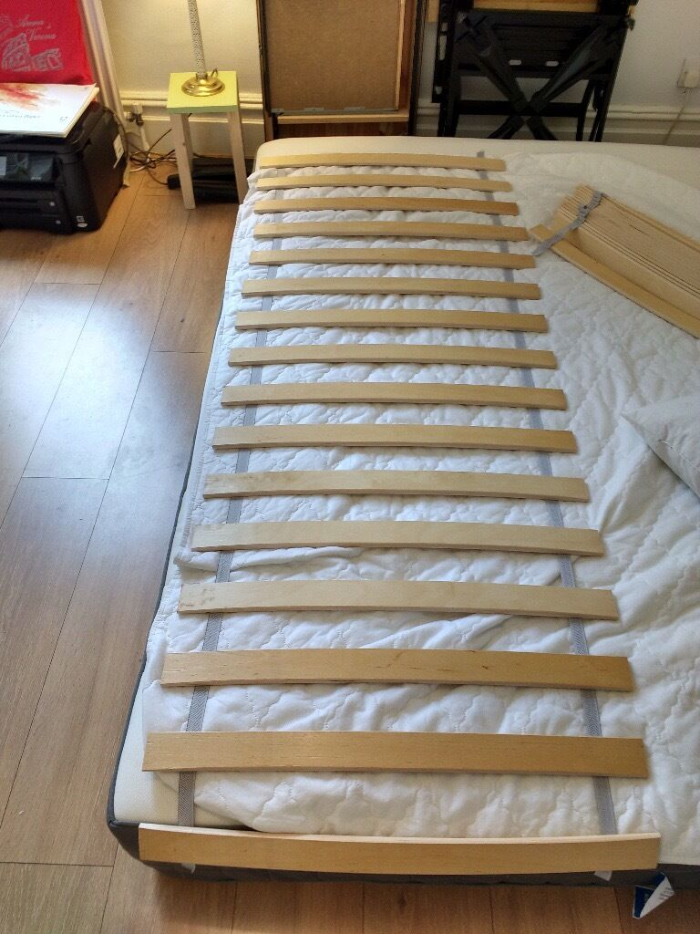 luroy slatted bed base ikea double bed like new in