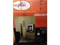"""Focalpoint Monet"" Wall Hung Contemporary Electric Fire"