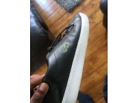 Lacoste Black/ White Leather Shoes