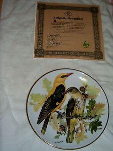 SET OF 8 EUROPEAN SONGBIRD PLATES WORLD WILDLIFE FUND (GERMAN) London Ontario image 4