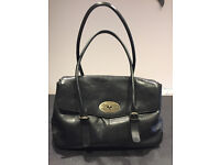 Black Leather Tumble and Hide Handbag