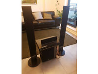 LG DVD Player and Surround Sound Speakers x4 and Woofer excellent condition