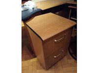 2-draw lock-able wooden filing cabinet, as new. Very versatile Office or Study furniture.