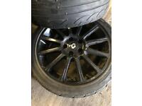 Clio 197 alloy wheels with tyres