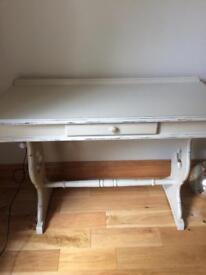 Beautiful cream hall console table with drawer