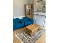 Teal Sofa Chairs x 2 - BARGAIN!