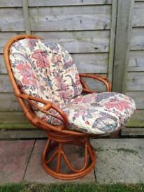Rotating wicker / Rattan / Cane chair Excellent Condition South Shields NE348TW