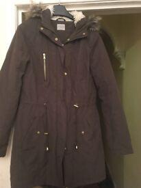 Ladies parka style winter coat size 12