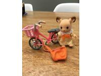 Sylvanian families deer and bike